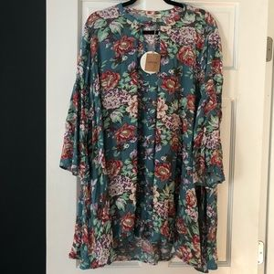 Swing floral dress w bell sleeves | NWT